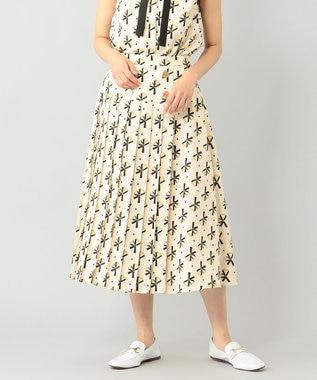 ベルトモチーフプリーツスカート