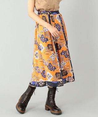 スカーフプリントギャザースカート