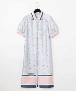 GRACE CONTINENTAL プールサイドシャツワンピース ブルー