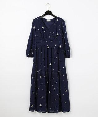 スター3D刺繍ドレス