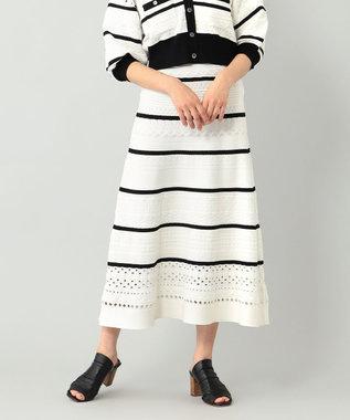 メッシュニットスカート