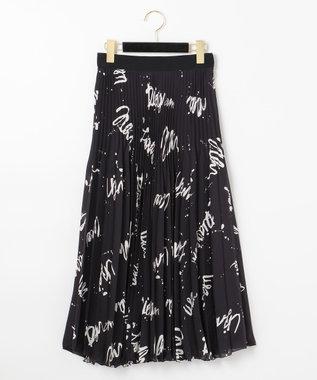 アートプリントプリーツスカート