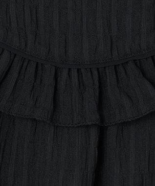 GRACE CONTINENTAL フリルヨークノースリーブトップ ブラック