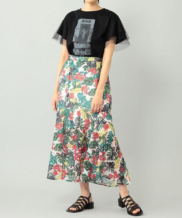 GRACE CONTINENTAL チュールフォトTシャツ