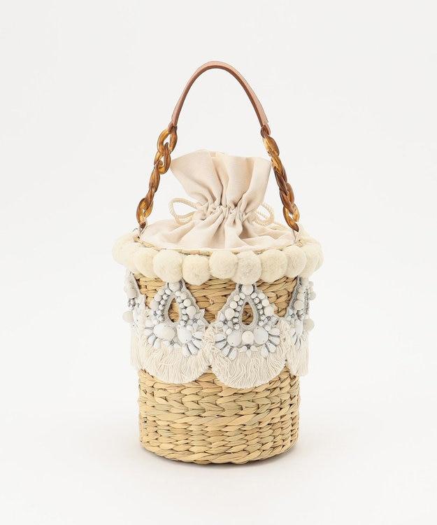 GRACE CONTINENTAL 刺繍バスケットバッグ