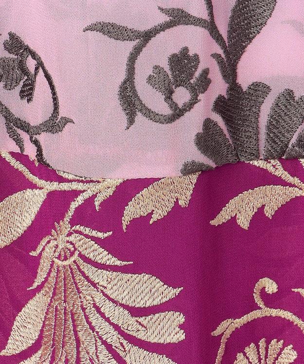 GRACE CONTINENTAL カラーブロック刺繍ワンピース