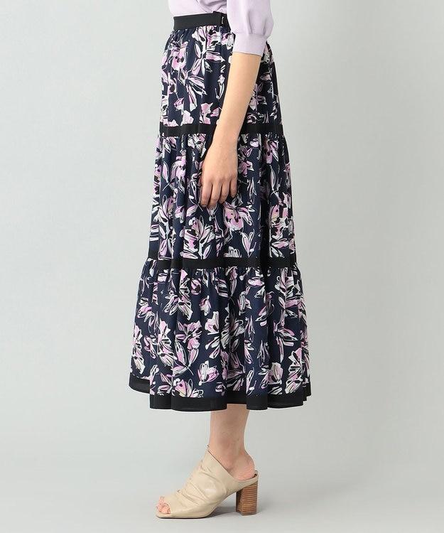 GRACE CONTINENTAL フラワープリントスカート