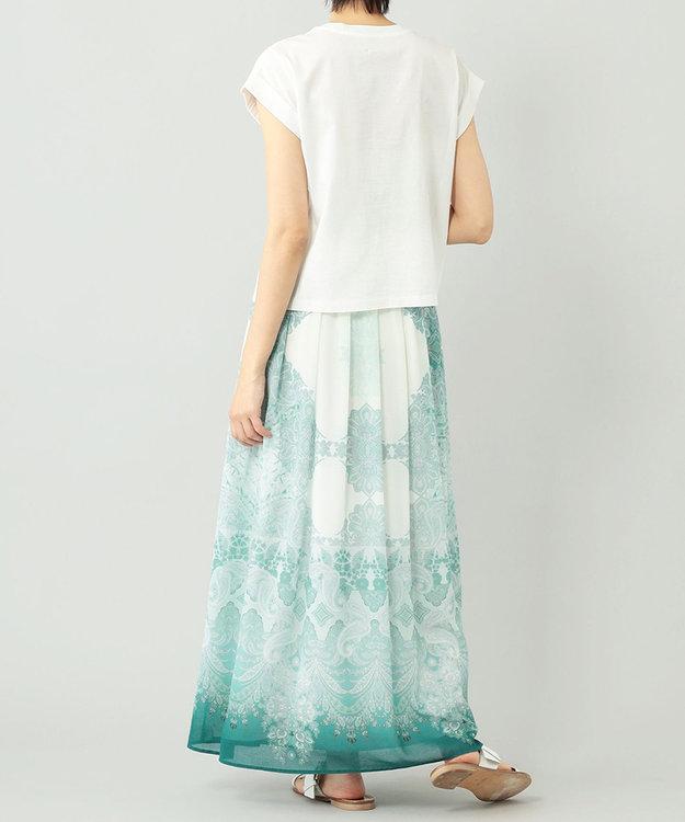 GRACE CONTINENTAL エスニックプリントマキシスカート