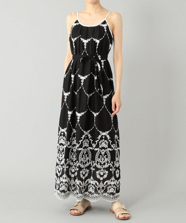 GRACE CONTINENTAL モスリン刺繍キャミドレス