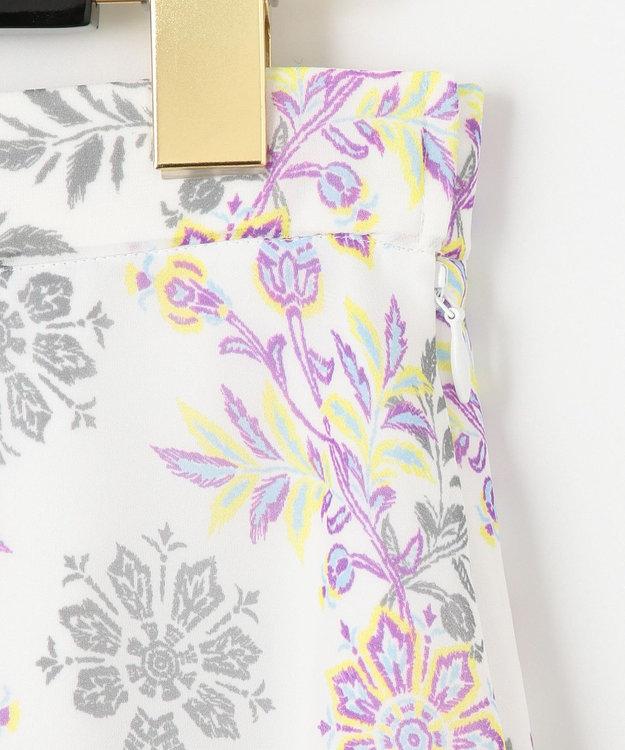 GRACE CONTINENTAL サラサシフォンロングスカート