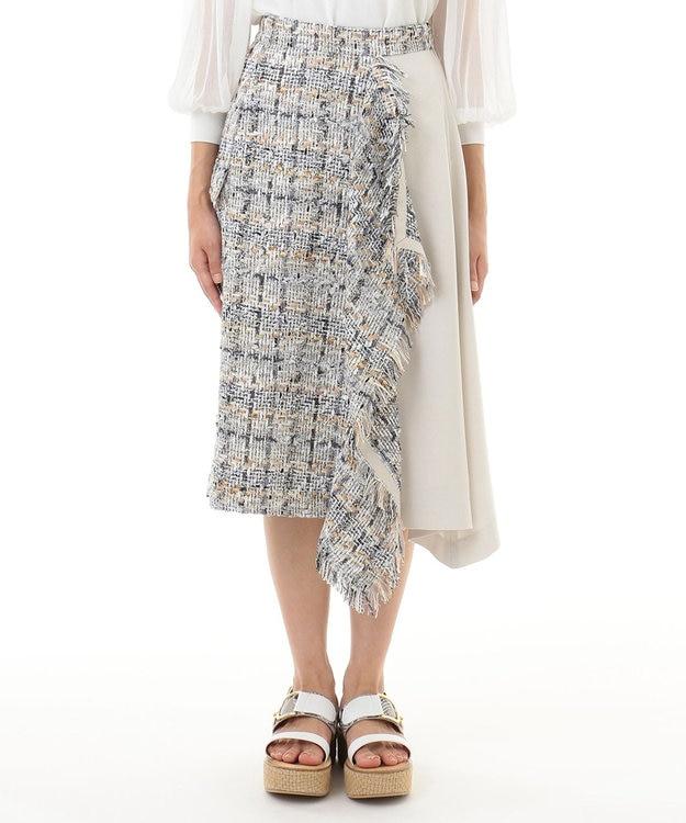 GRACE CONTINENTAL ツイード切替スカート