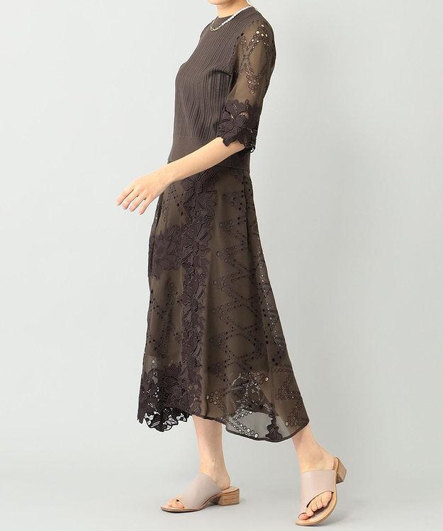 GRACE CONTINENTAL フラワーレーススカート